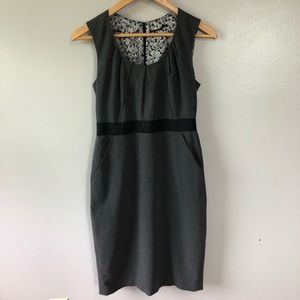 Elie Tahari Gray Crew Neck Sleeveless Dress 4